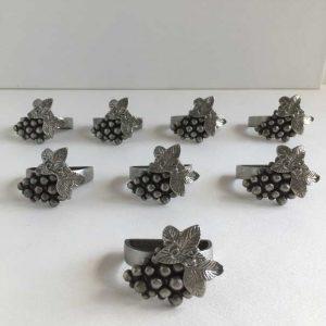 Anneaux serviettes table métal