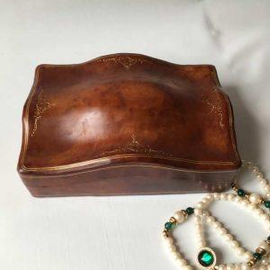 Boîte bijoux cuir Italie