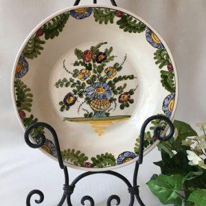 Assiette céramique peint main / Skyros Grèce