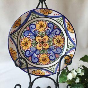 Assiette céramique peint main / Espagne