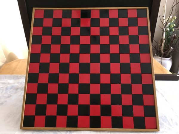 Grand damier 12 x 12 (144 cases) rouge/noir