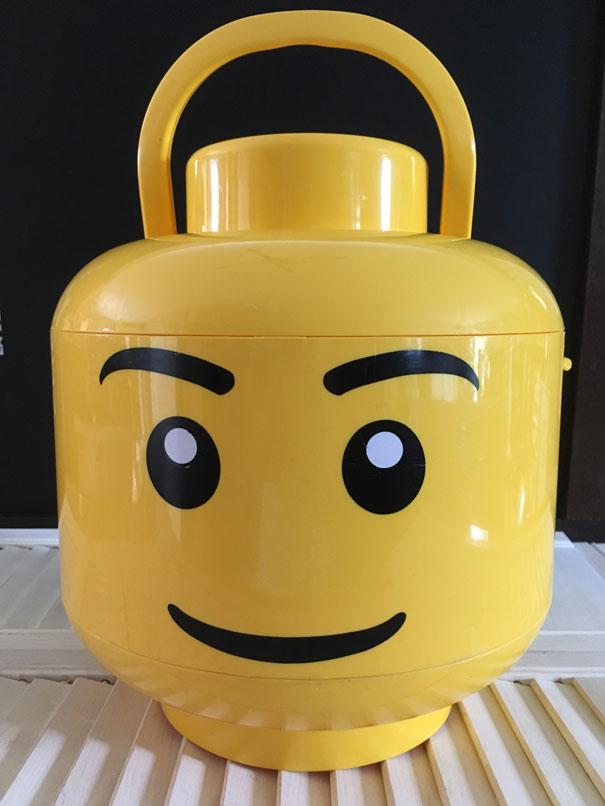 Boite Rangement Et Tri Lego Forme Tete Recup Brocante Com