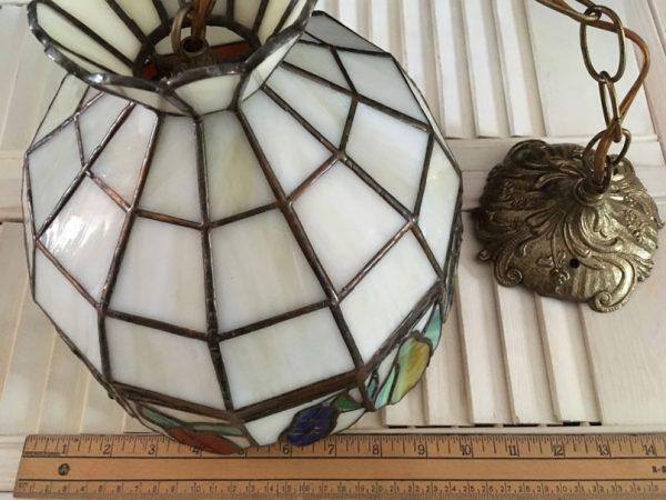 Lampe vitrail suspendue Fruits vintage