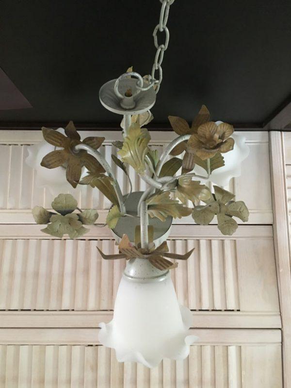 Plafonnier lustre floral 3 lumières